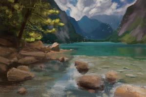 Mountain Lake Study by arenirart