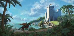 Sea Castle by arenirart