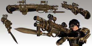 Tesla Assault Rifle by TKingArt