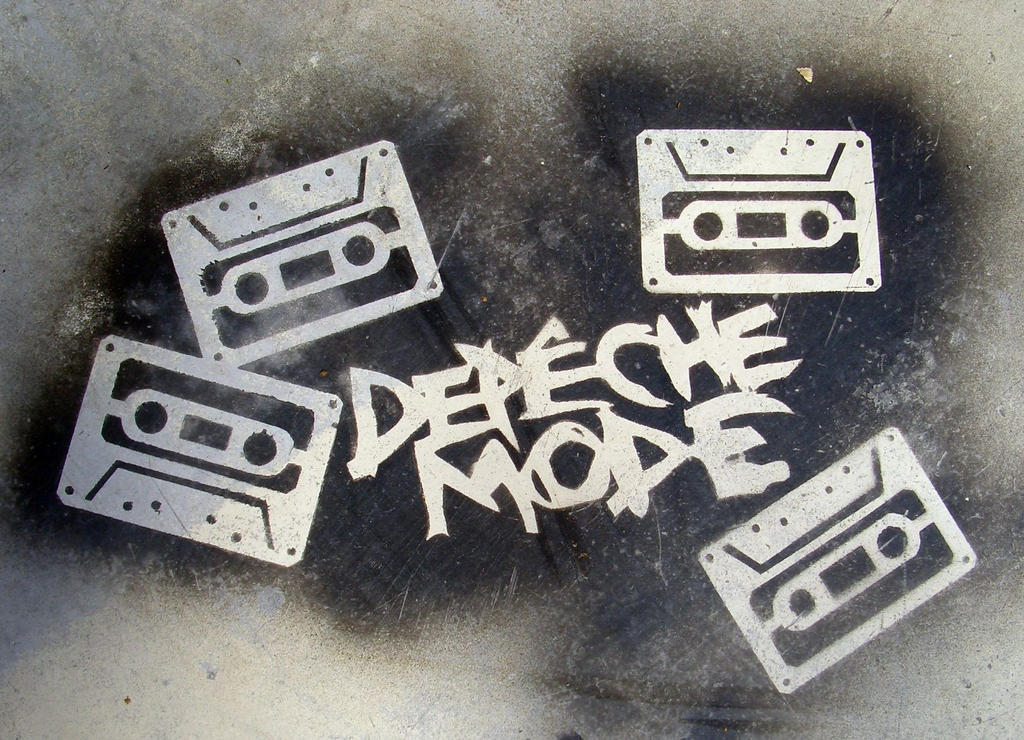 depeche mode cassette stencil by tamas kanya by tom-tom1969