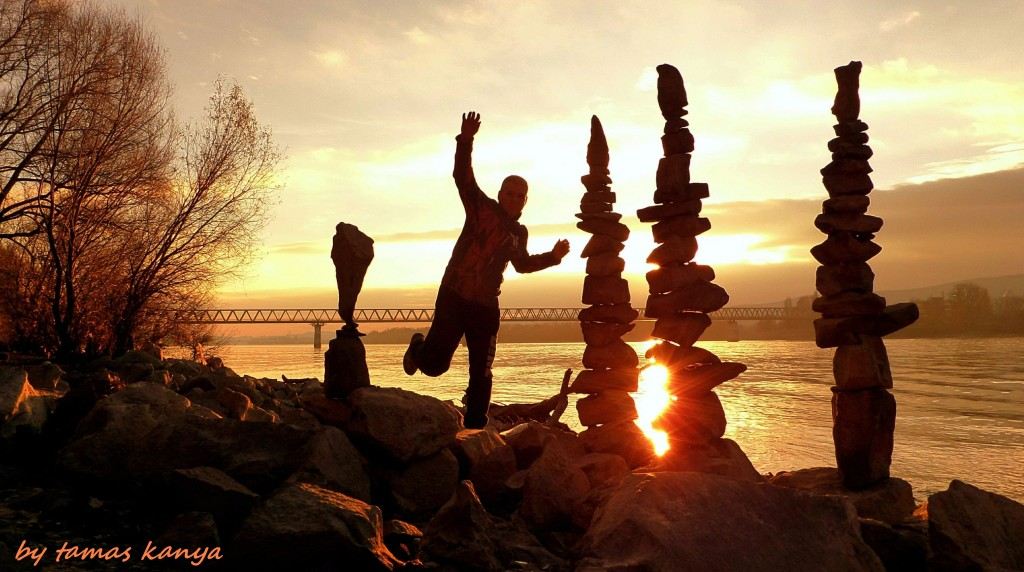 Land art silhouette game in the sunset(Hungary) by tom-tom1969