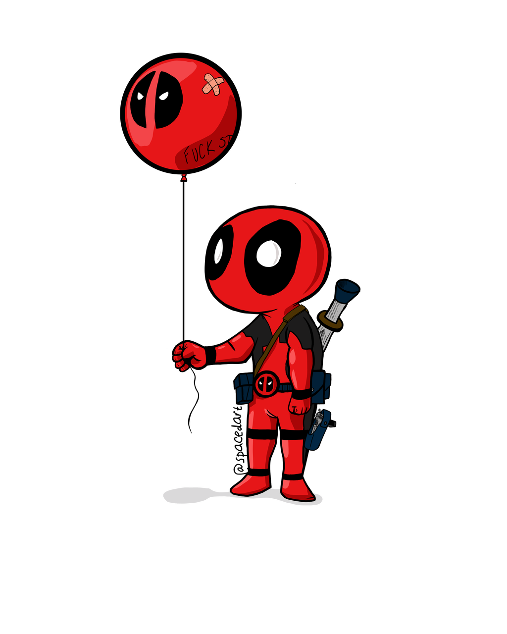 Deadpool and his Balloon