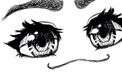 Smug Eye Practice by Furballx3