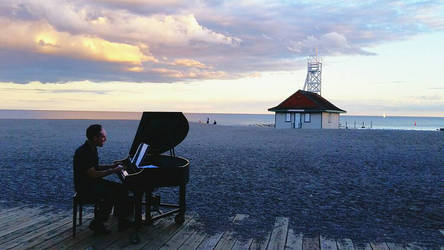 Piano on the beach by stephtastic14