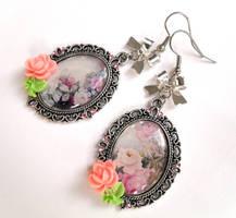 Earrings Romantic Rose Garden