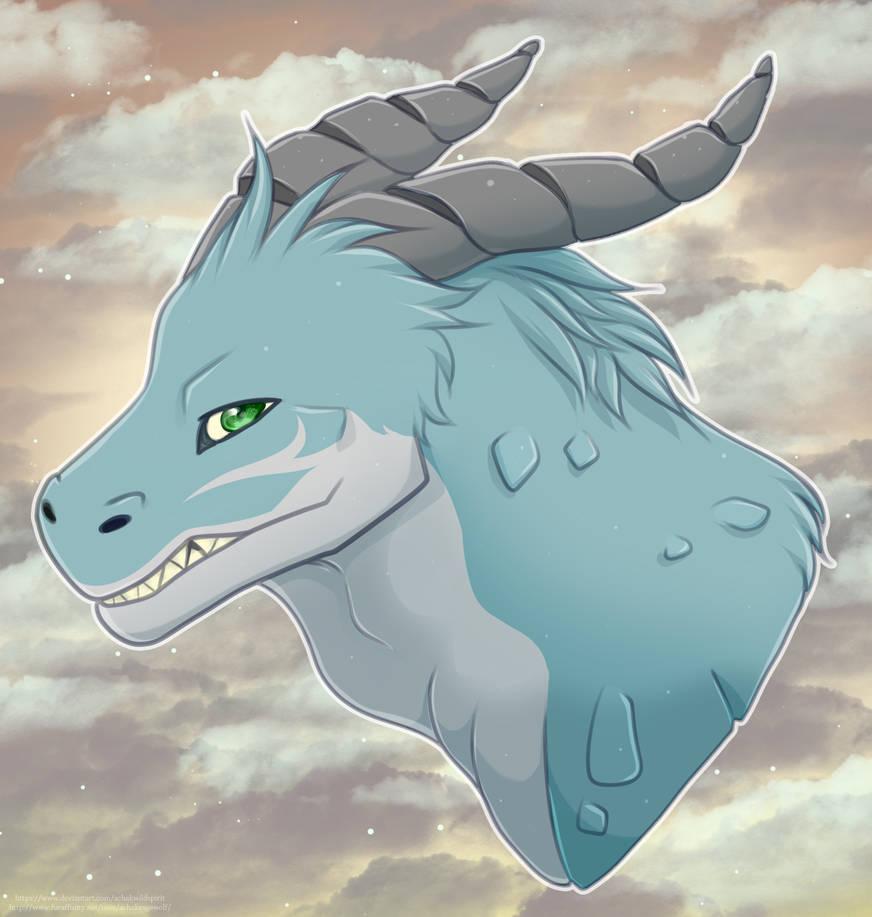 COMMISSION - Tab Dragon by AchakWildSpirit
