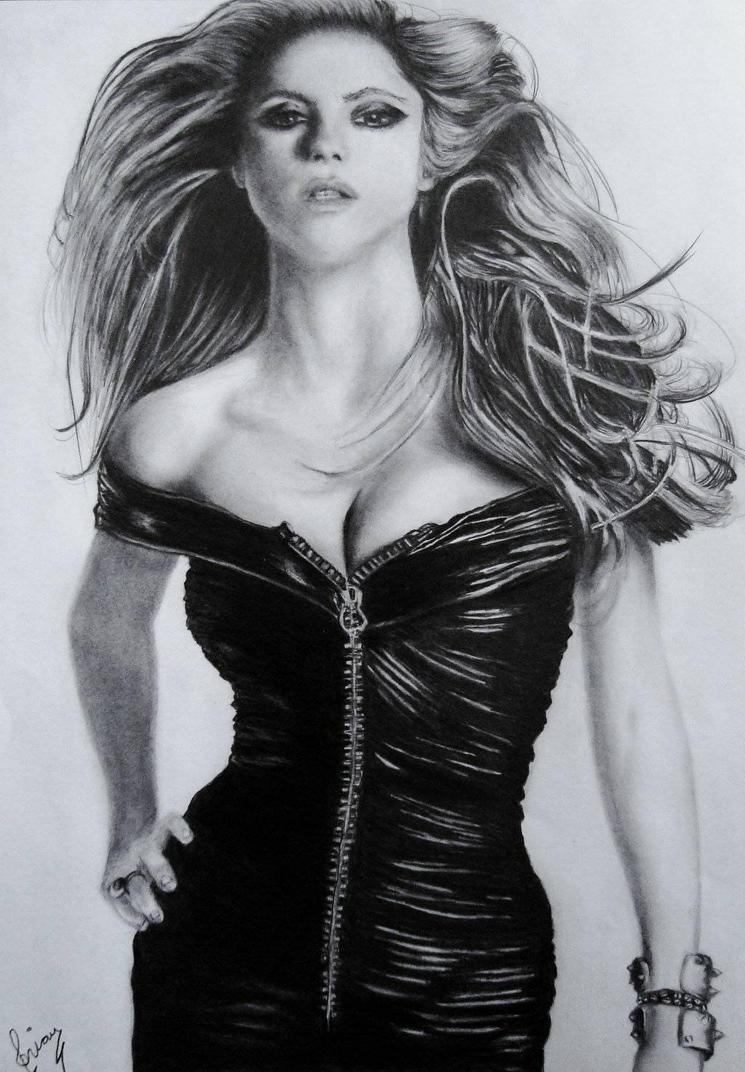 Shakira tercera parte final Retrato VI 2013 by Brichel