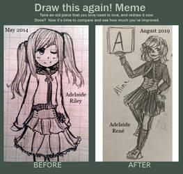 [Redraw Meme] Alina 2014 vs 2019