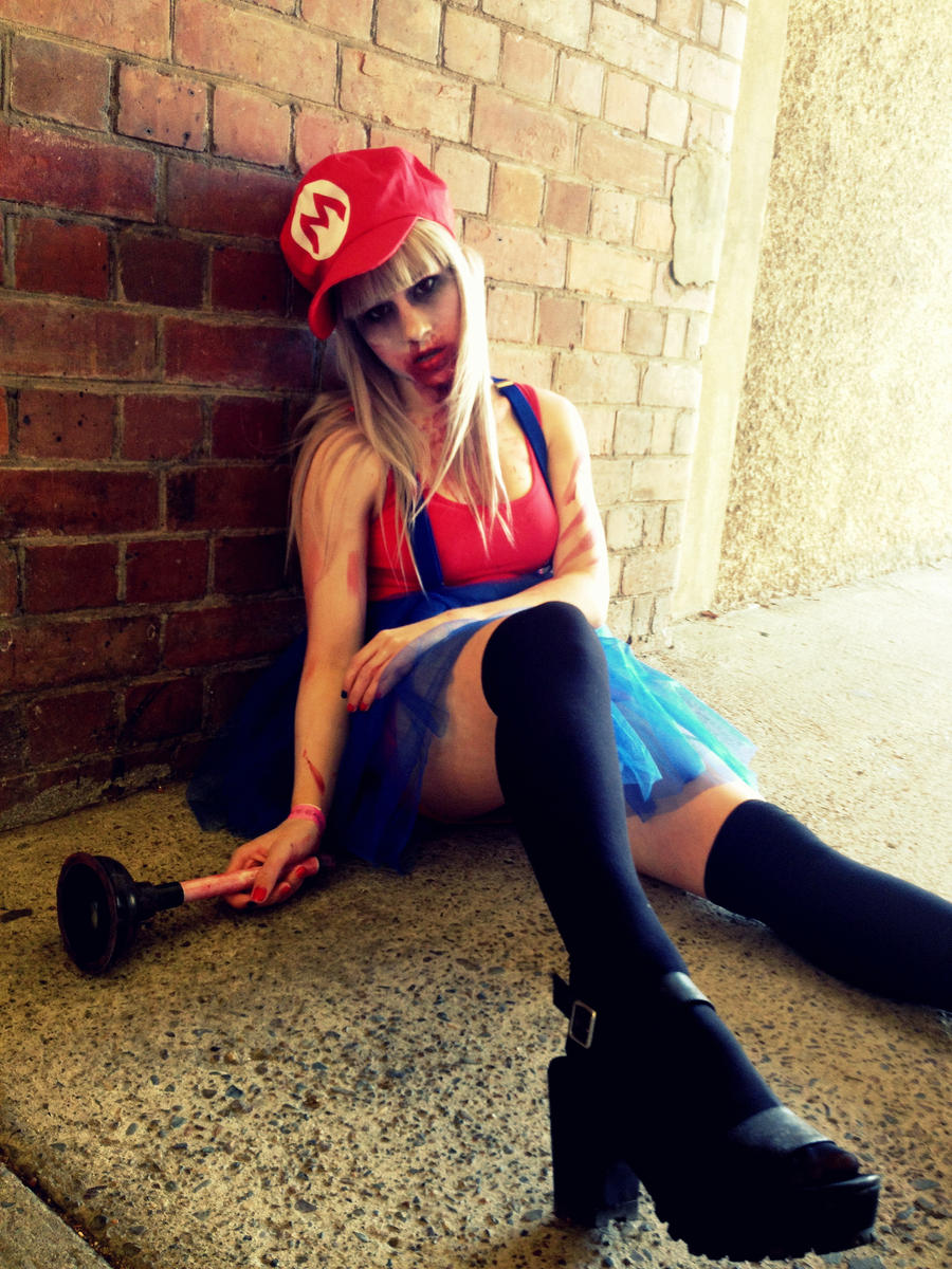 Zombie Mario - Need a plumber ? by khall47