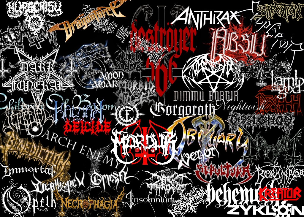 Metal Bands Logos By Khairulridwan On Deviantart