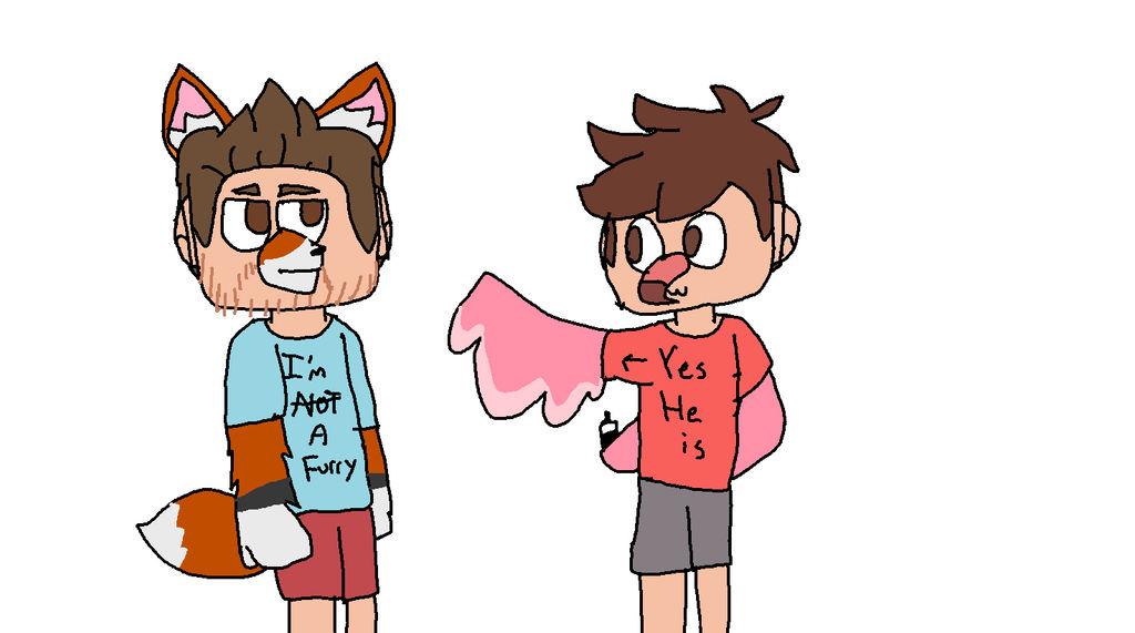 AlbertsStuff and Jayingee Fan art: Jake is a furry by SmolGengarPery