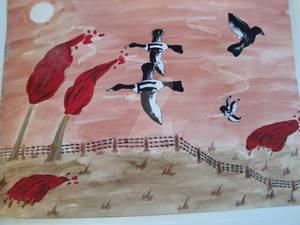 Birds in the wintersun