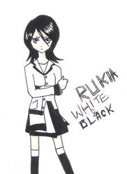 Kuchiki Rukia-white and black