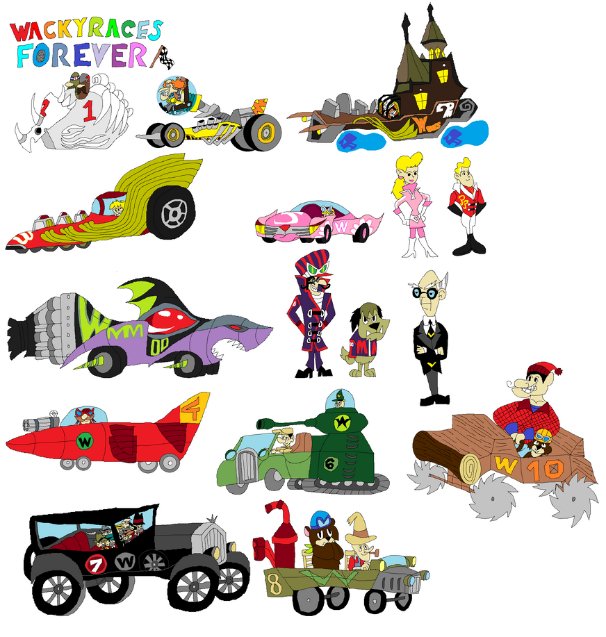 Wacky races forever by tomyucho on deviantart for Wacky wallpaper