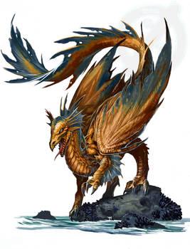 Recoloring Young Bronze Dragon