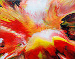Red And Yellow Fluid Painting