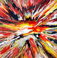Colourful Spin Painting 19 by Mark-Chadwick