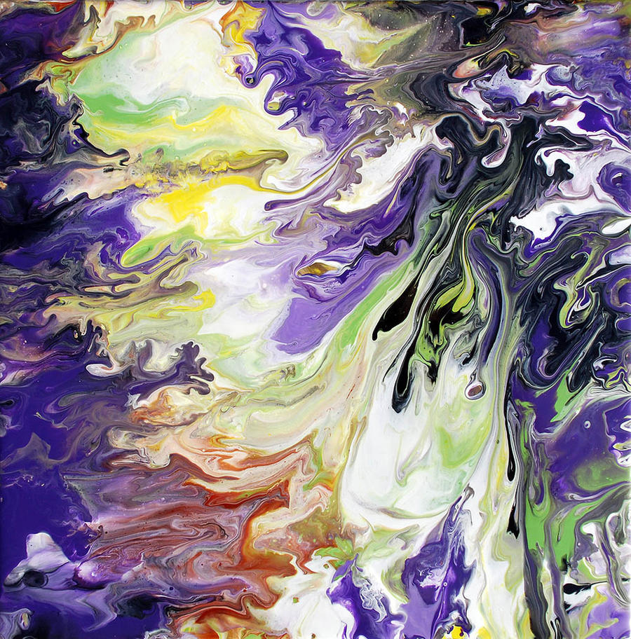 Abstract Fluid Painting 44 by Mark-Chadwick