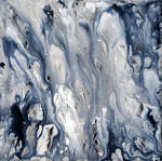 Black and White Fluid Painting