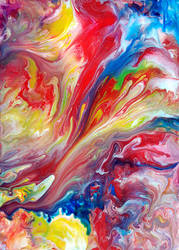 Abstract Fluid Painting 54 by Mark-Chadwick