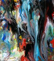 Acrylic Fluid Painting 59 by Mark-Chadwick