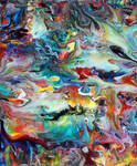 Acrylic Fluid Painting 61 by Mark-Chadwick