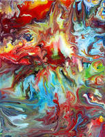 Abstract Fluid Painting 64 by Mark-Chadwick