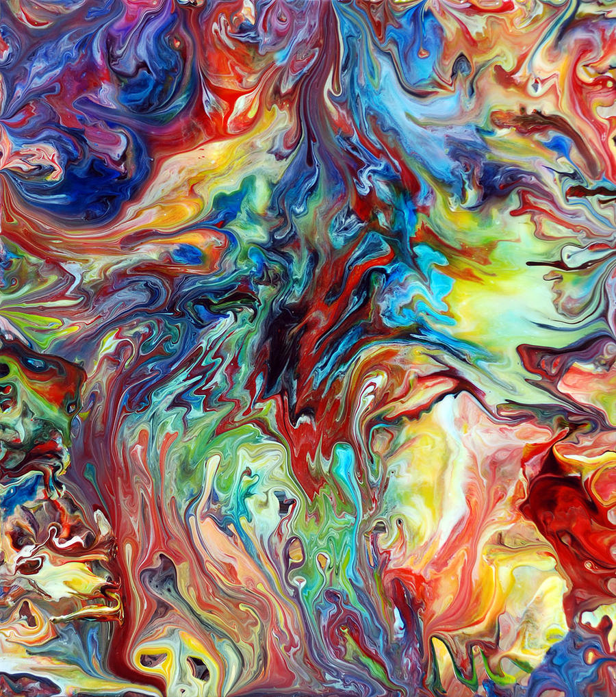 Abstract Fluid Painting 65 by Mark-Chadwick