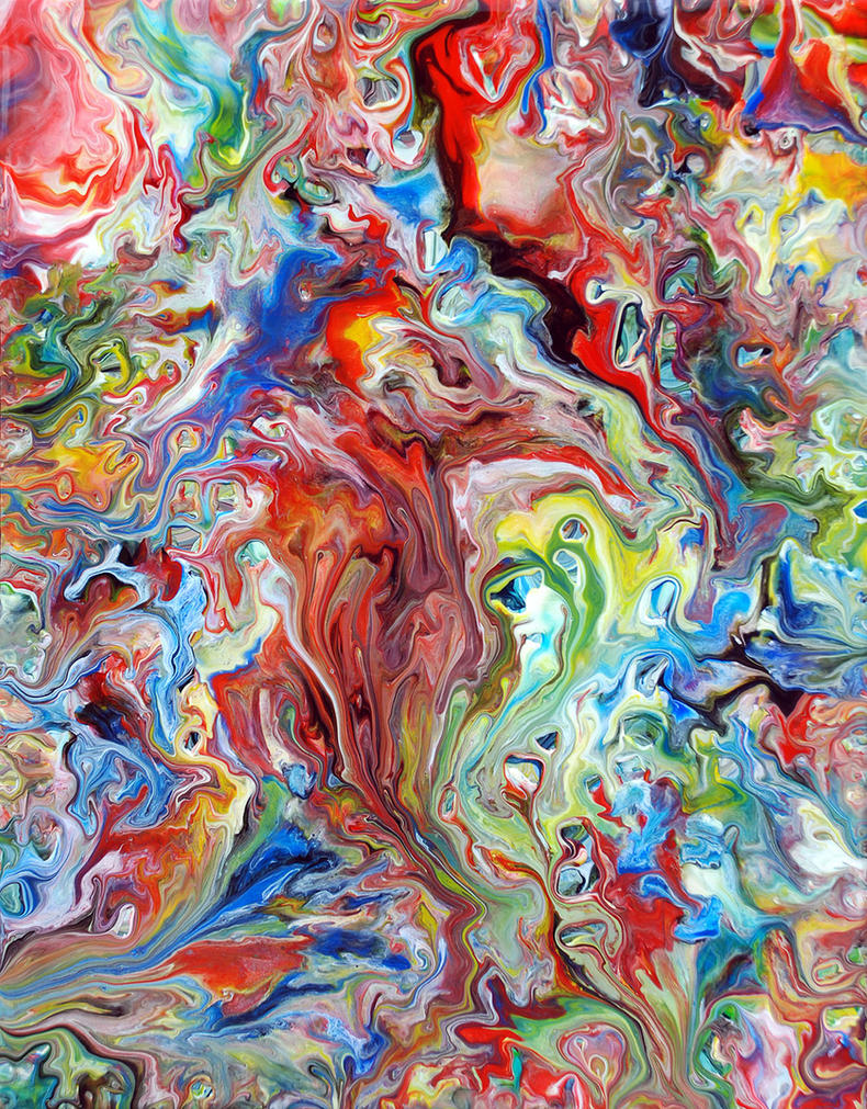 Acrylic Fluid Painting 67 by Mark-Chadwick