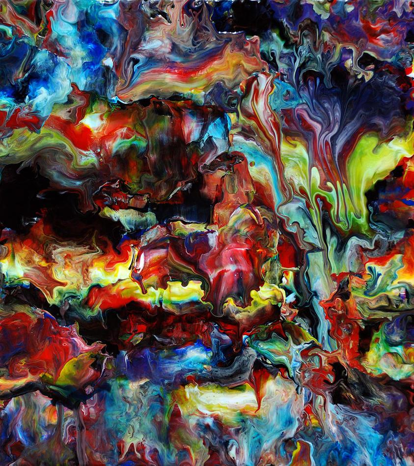 Abstract Fluid Acrylic Art By Mark-Chadwick On DeviantArt