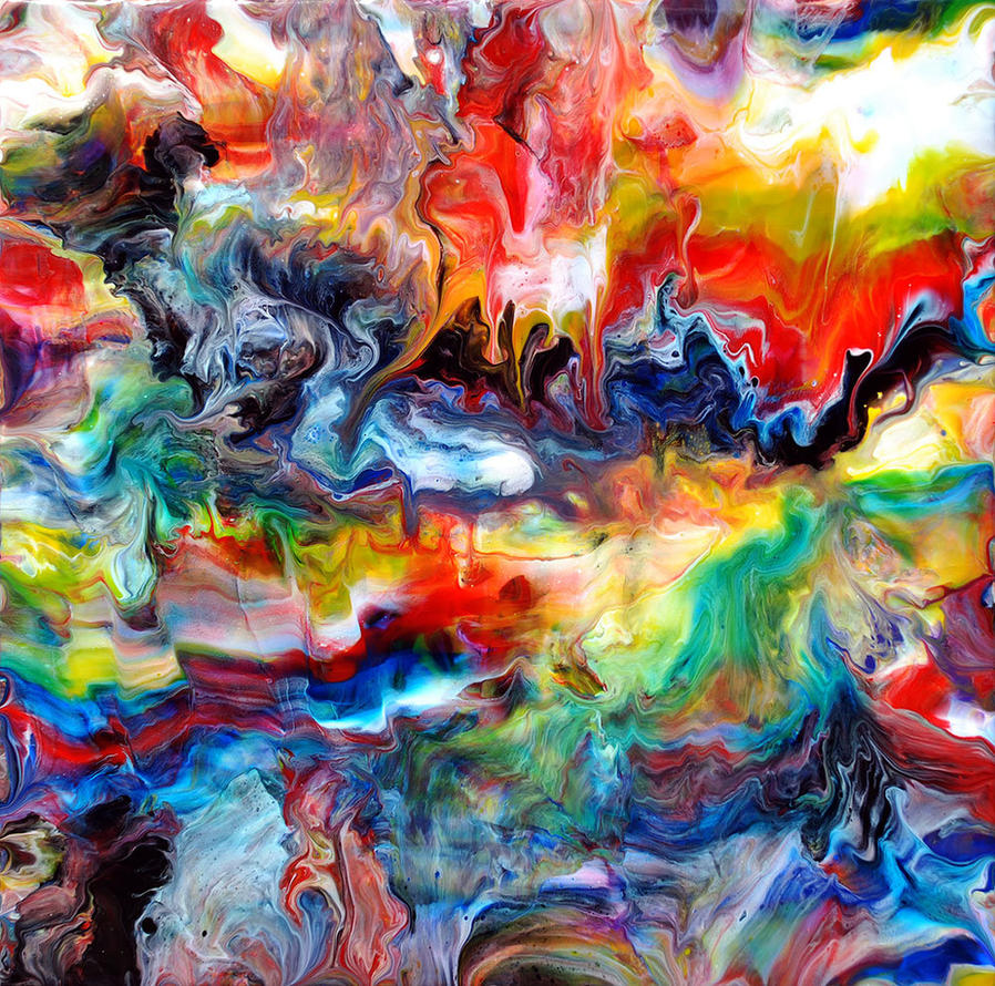 Fluid Painting 70 by Mark-Chadwick