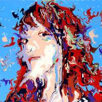 Fluid Portrait Acrylic Painting by Mark-Chadwick