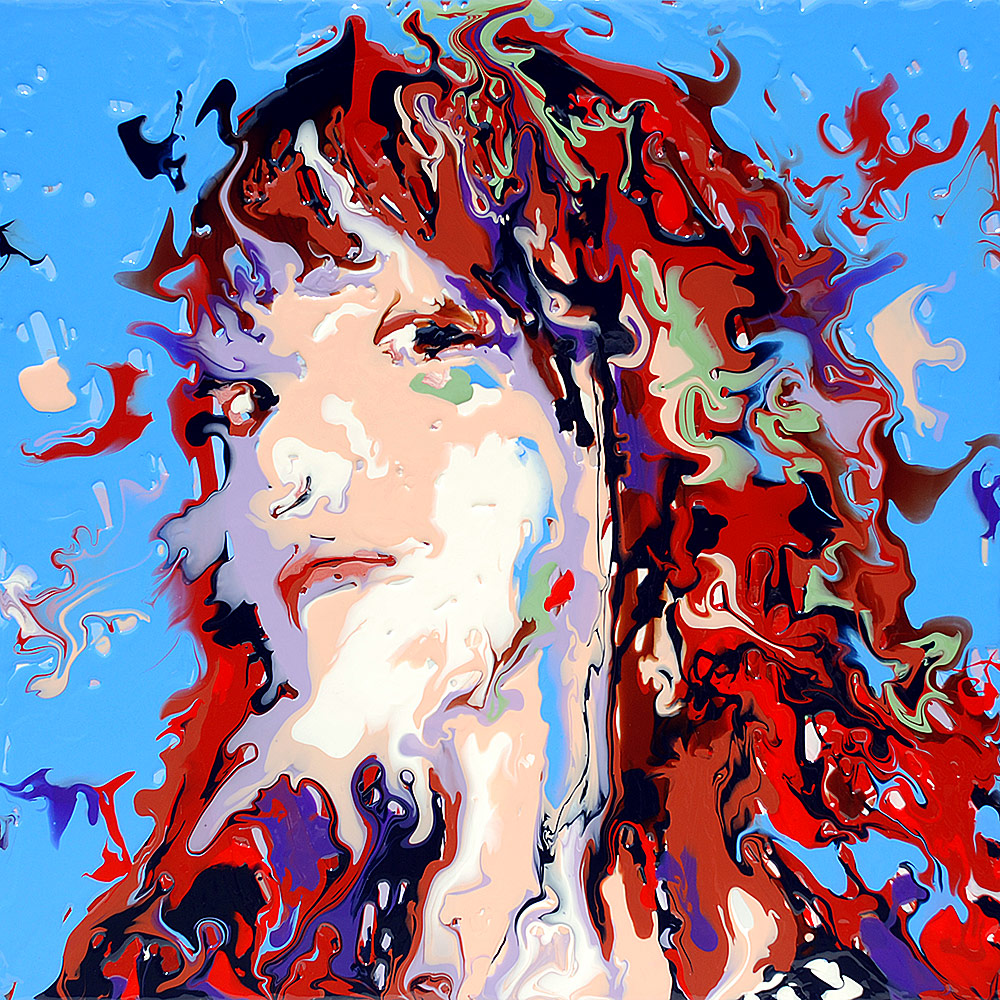 fluid portrait acrylic painting by mark chadwick on deviantart