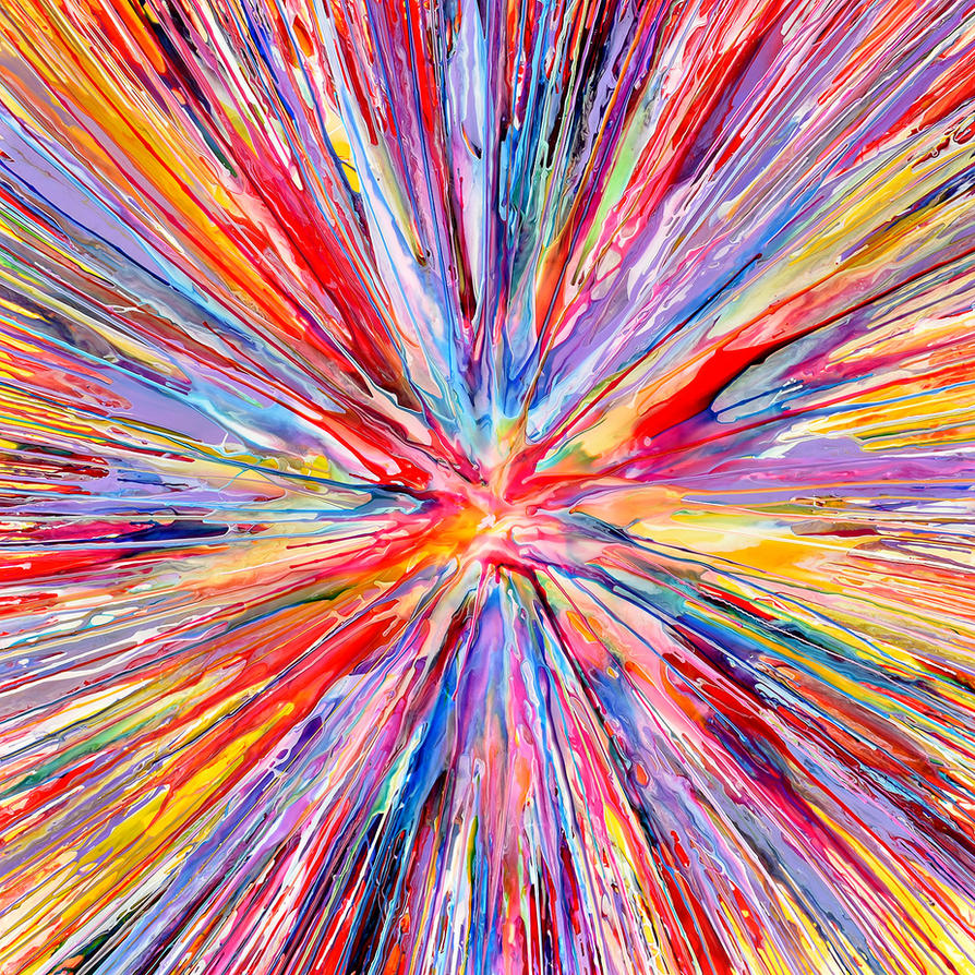 Elodie Spin Painting 34 by Mark-Chadwick