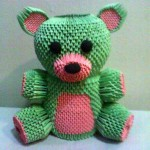 3D origami Teddy Bear by dfoosdc
