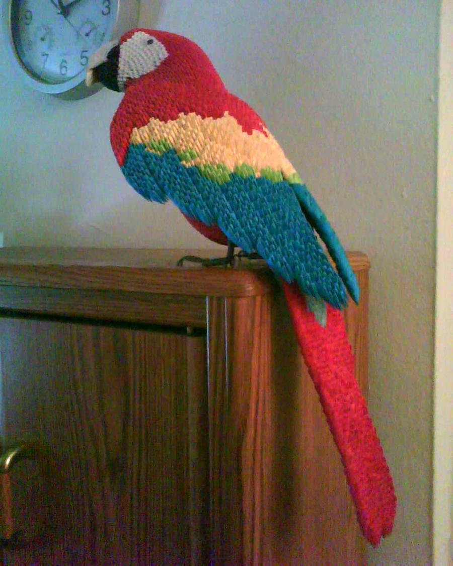 Origami Macaw Parrot Step By Step | Origami parrot, Origami ... | 1125x900