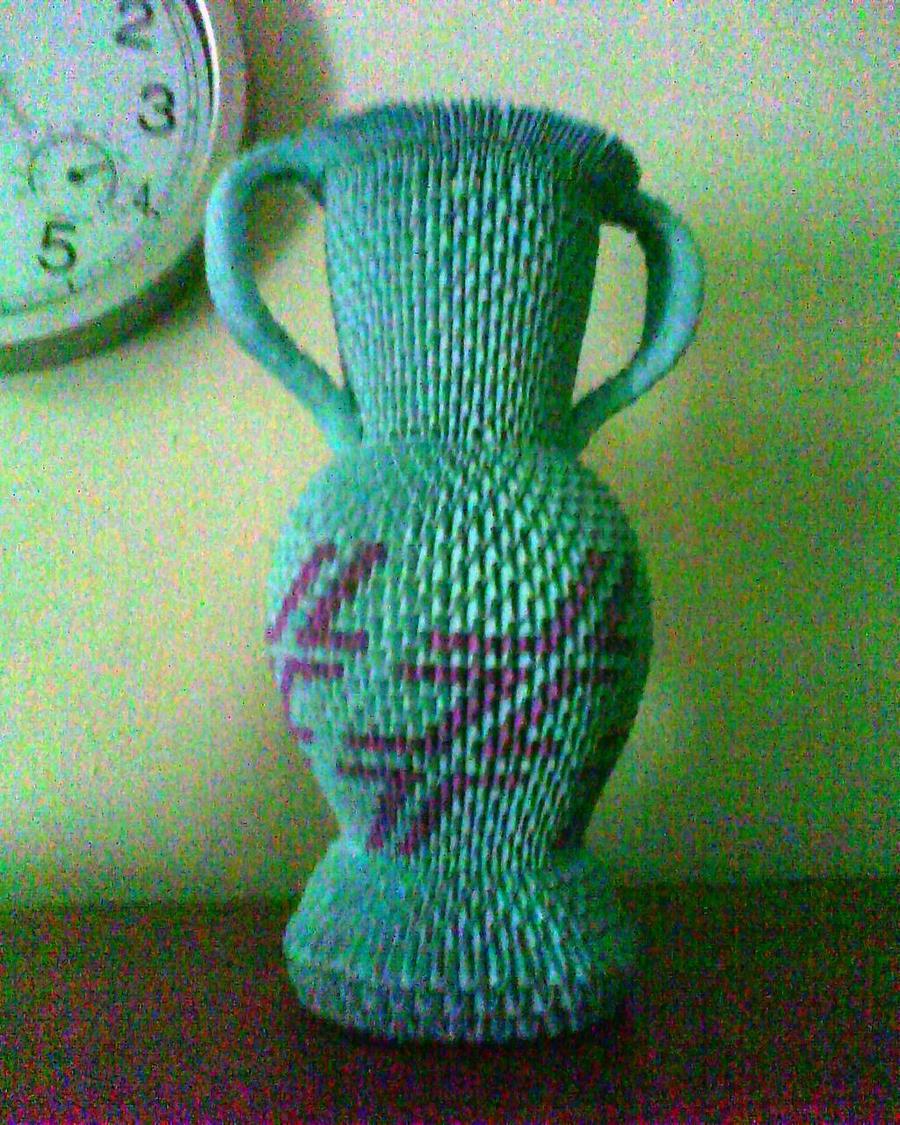 Vase 3d Origami Diagram: 3d Origami Urn By Dfoosdc On DeviantArt