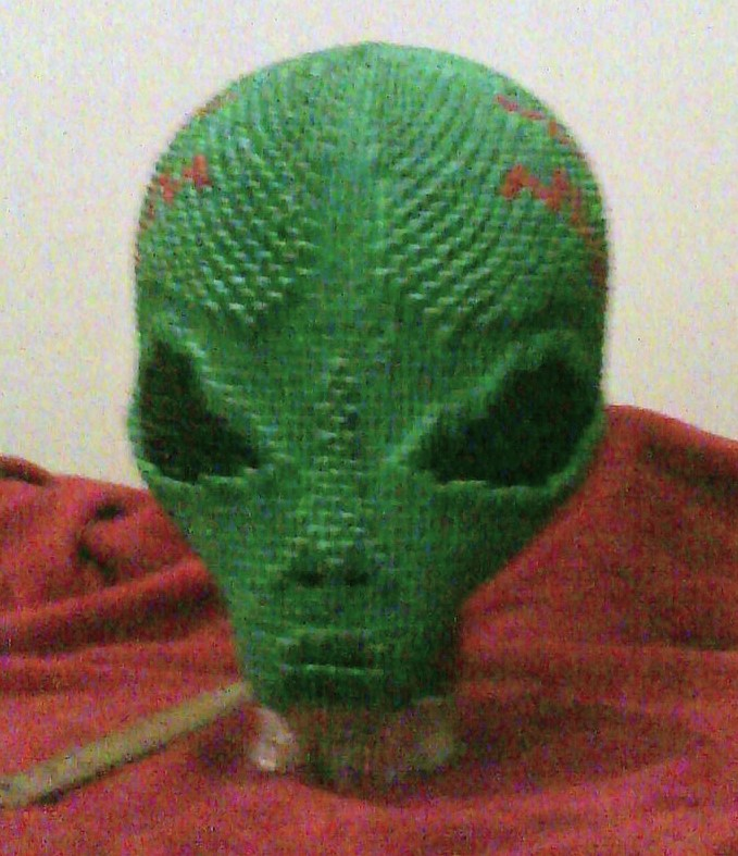 3d Origami Alien By Dfoosdc