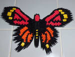 3d Origami Monarch butterfly