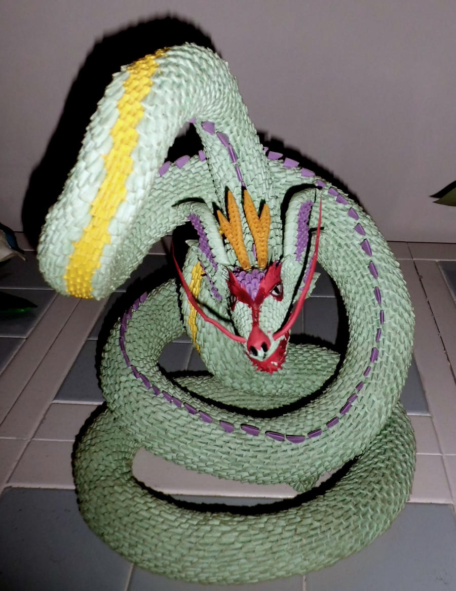 3d origami serpent 2 by dfoosdc on deviantart