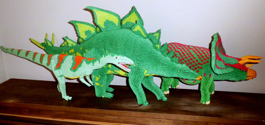 Jurassic Paper 3d Origami By Dfoosdc