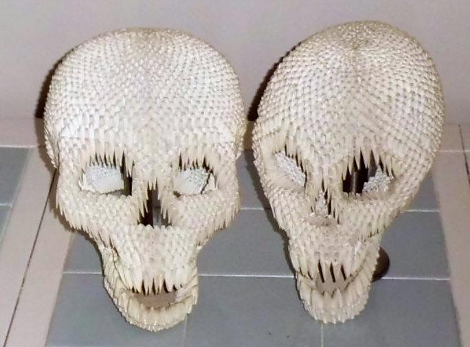 Skulls In 3d Origami By Dfoosdc On Deviantart