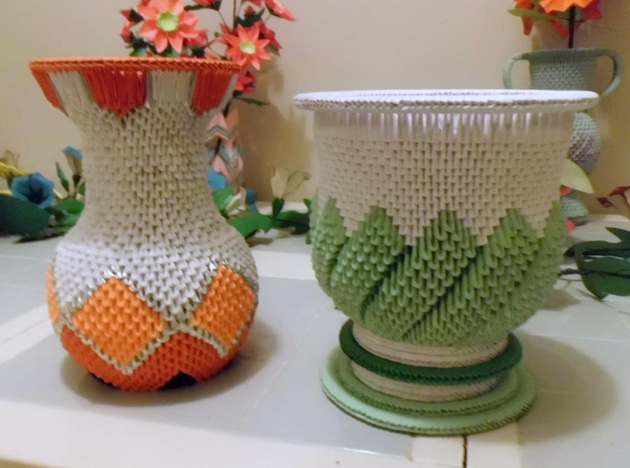 3d Origami Vase And Urn By Dfoosdc On Deviantart