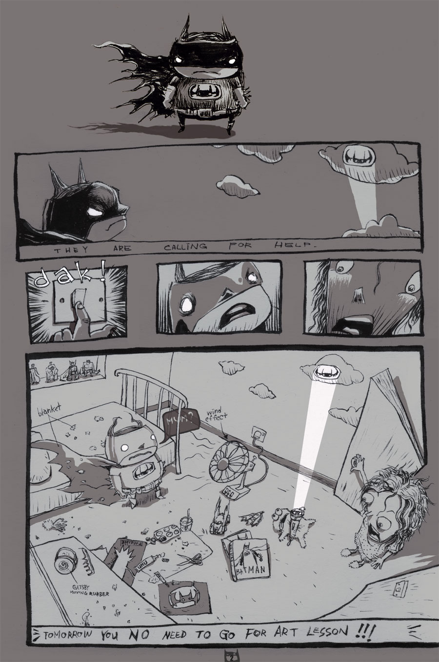 page 2 of Bat_Junior comic