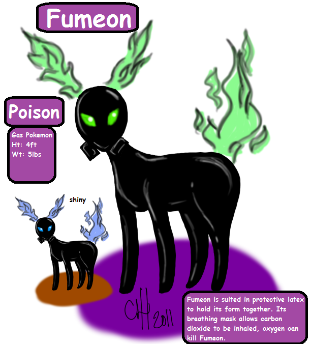 Poison Type Eevee by shinrah on DeviantArt