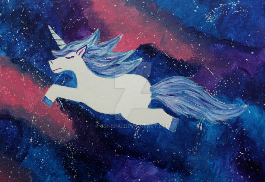 Space Unicorn by EshiSnu