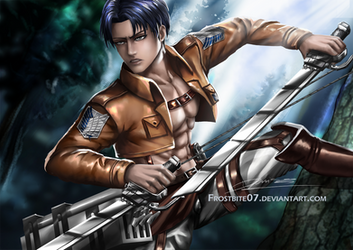 Levi Ackerman + Speedpaint Video by Frostbite07