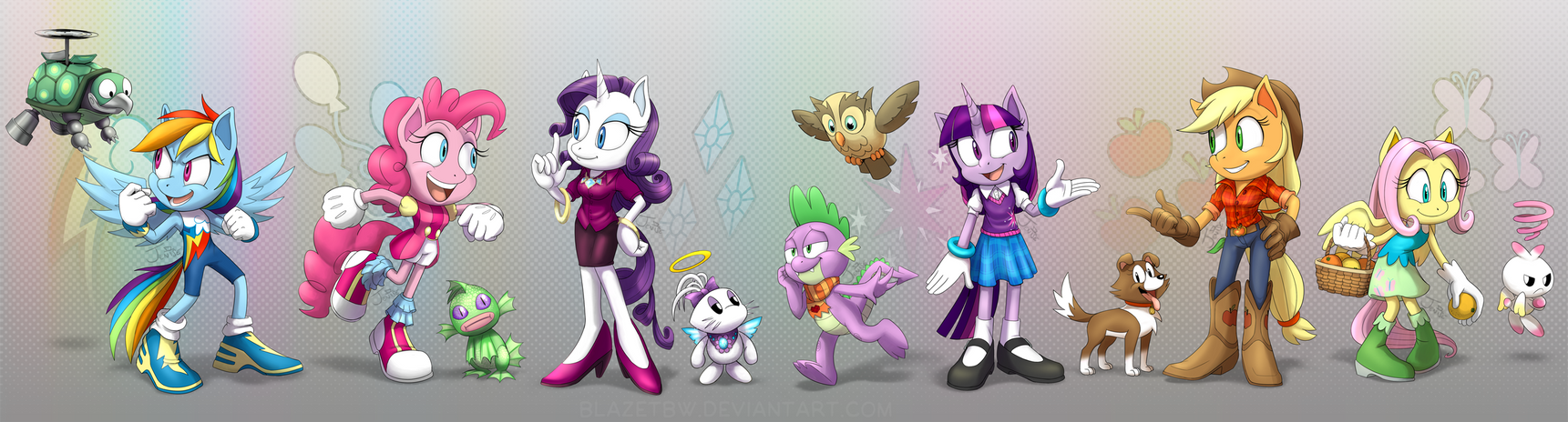 Sonic Style Ponies - Main Six and Pets