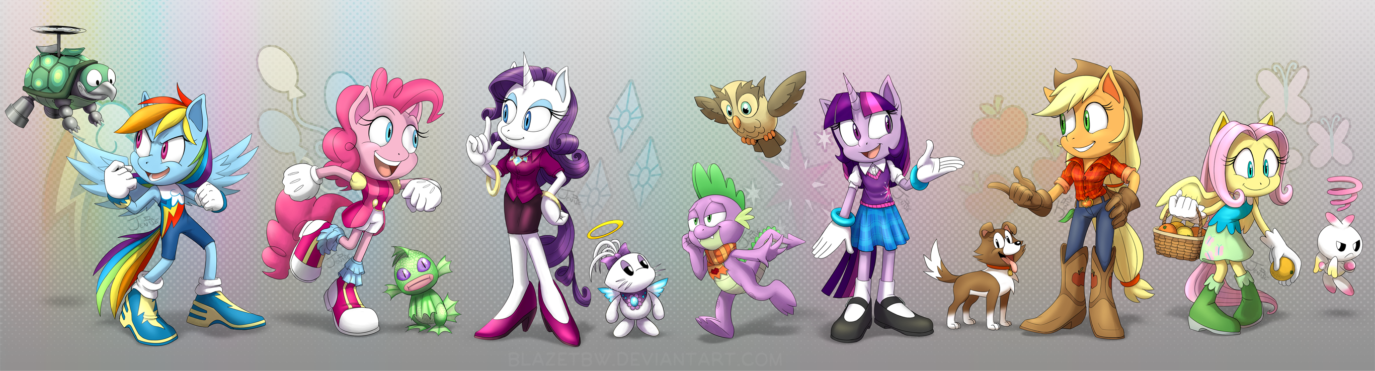 Sonic Style Ponies - Main Six and Pets by BlazeTBW on ...