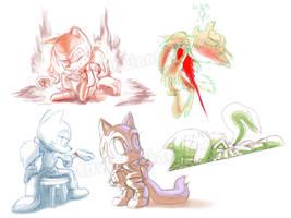 Greene doodles by BlazeTBW